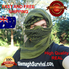Shemagh - Large High Quality 100% Cotton Green Shemagh - KeffIyeh Survival Scarf