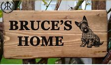 Dog Name Nameplate Plaque Personalised Sign Dog House Crate Kennel Garden Gift