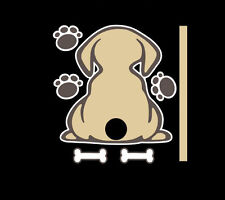 Cute Dog with a wagging tail on Car wiper Fun Decals Sticker Rear Window Decal