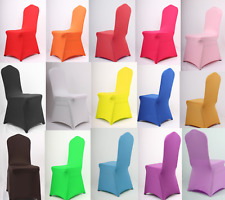 Chair Covers Spandex Lycra Wedding Banquet Anniversary Party Decor 11 Colours UK