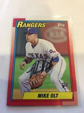 Topps Baseball Throwback RC Wih In Person Auto Texas Rangers Mike Olt