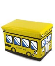 New Kids Storage Box Seat Toy Stool Books Clothes Chest Childrens Girls Boys