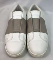Vince Camuto Sneakers White/Beige Leather Slip On 7.5M