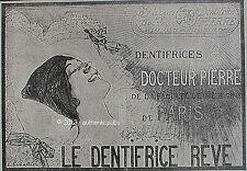 PUBLICITE DOCTEUR PIERRE LE SAVON DENTIFRICE FACULTE MEDECINE DE 1918 FRENCH AD