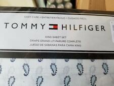 Tommy Hilfiger Tossed Paisley Sheet Set King Cotton Blend