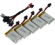 5x 7.4V 2S 650mAh Battery for JJRC H8C H8D DFD F183 + 2 To 5 Charging Cable Q6