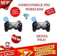 JOYSTICK WIRELESS COMPATIBILE PS3 SENZA FILI joypad USB controller VIBRAZIONE 2