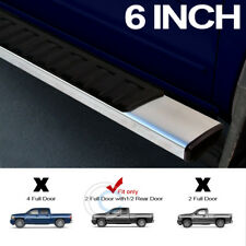 "6"" OE STYLE ALUMINUM SIDE STEP RAIL RUNNING BOARDS 07+ SILVERADO/SIERRA EXTENDED"