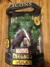 "MARVEL LEGENDS ICONS COLLECTORS EDITION GREEN VARIENT HULK 12"" TOYBIZ 2006 BN"