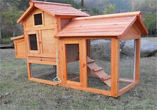 Lovupet 60'' Wooden Chicken Coop Poultry Hen House Rabbit Hutch Cage 0313S