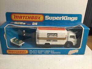 Matchbox Superkings K19 security Truck Mint In Box