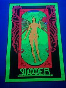 Vintage 1960s Summer Original Black Light Poster Excelent Condition