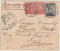 ITALIA 1908 BIGLIETTO POSTALE ESPRESSO DA LUGO X RAVENNA