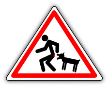 """Caution Wicked Dog Warning Sign Funny Car Bumper Sticker Decal 5"""" x 4"""""""
