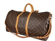LOUIS VUITTON Keepall Bandouliere 55 Monogram Canvas Leather Boston Bag LH3778