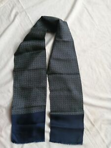 """Men's silk scarf Made in Italy 6"""" x 52"""""""