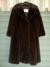 Vtg Palanker   Sons CHOCOLATE BROWN MINK Fur Coat 3 4 Length 10-12 62aebe5cda930