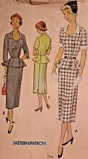 Mc-8354 Vtg 50's Two-Piece Suit Dress Sewing Pattern McCall  Bust 31 Complete