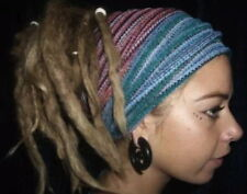 2 X HEAD BAND HAIR WRAP DREADLOCKS DREADS PSY HAT RASTA HIPPY FESTIVAL 22COLOURS