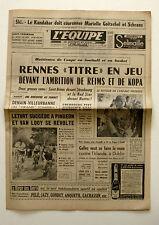 Journal l'Equipe n°6206  - 1966 - Rennes - Kopa - Letort - Ski M. Goitschel