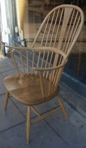 A vintage 1960s Ercol 'chairmakers' windsor chair