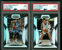 LOT OF 2 TYLER HERRO 2019 PANINI PRIZM SILVER PRIZM RC PSA 9 MINT Heat