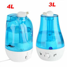 Ultrasonic Cool Mist Humidifier 3L 4L Portable Home Office Room Double-nozzle Us