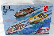 1:35 Scale 3 in 1 Customizing Boat Plastic Model Kit - AMT 1056/12