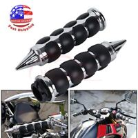 "1"" Motorcycle Handle Bar Hand Grips Chrome For Harley Cruiser Dirt Bike Yamaha"