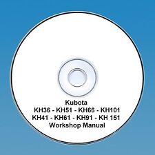 Kubota Kh 36-151 Serie Escavatore/Escavatore - Manuale D'Officina