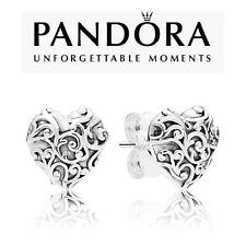 Genuine Pandora Regal Heart Stud Earrings