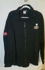 NFL San Francisco 49ers Fleece Pullover Jacket Men Black Polyester XL BNWOT