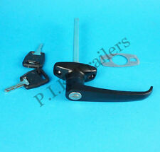FREE P&P* Black L Handle with 2 Keys for Horse Box & Caravans & Trailers