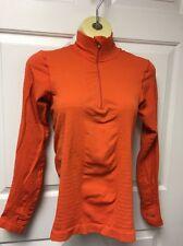 LUCY Tech Athletic Activewear Orange Compression Pullover Running Yoga Sz Medium