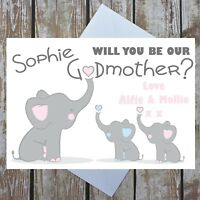 Personalised Will You Be My Our Godmother, Godfather, Godparents Card From Child