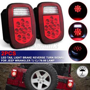 For Jeep Wrangler TJ CJ YJ JK Pair 39 LED Stop/Turn /License Tail Light