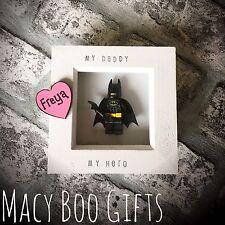 Personalised Gift Present Lego Frame Superhero Dad Daddy Grandad Batman