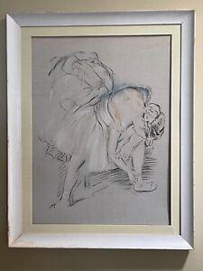 Edgar Degas Drawing of Ballerina