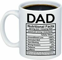 Dad Nutritional Facts Label Mug Gift Idea 11oz for Dad from Wife, Daughter, Son