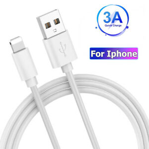Fast USB Cable Cord Charger Data Cord For iPhone 6 7 8 11 12 iPad Heavy Duty 1M