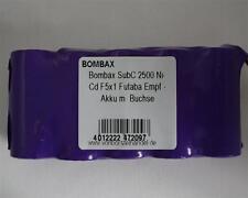 Bombax 6,0V/2500mAh SubC NiCd F5x1 5er Reihe Futaba Empfänger