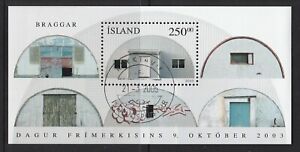 ICELAND 2003 STAMP DAY Barracks converted to House Miniature sheet/Block VF Used