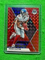 DARIUS SLAYTON RED PRIZM CARD JERSEY #86 GIANTS 2020 PANINI MOSAIC REFRACTOR