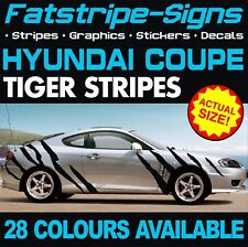 HYUNDAI COUPE TIGER STRIPES CAR VINYL GRAPHICS DECALS STICKERS 1.6 2.0 2.7 J2 RD