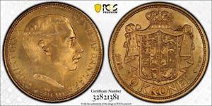Denmark 20 Kroner 1914 VBP PCGS MS64
