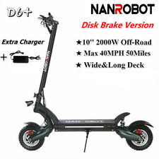 Nanrobot D6+ Electric Scooter 2000W Adult Max Speed 40Mph 50Miles+1Extra Charger