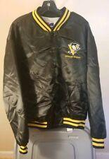 Pittsburgh Penguins NHL Vintage Black Team Logo Large Jacket