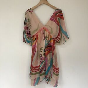 Traffic People Womens Dress, Size Small, Pure Silk Floral