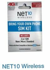 Net10 LTE DualCut SIM - Includes FREE month of $50 plan! No Contract! 8 GB DATA