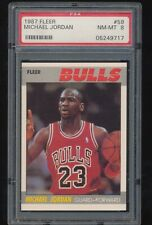 PSA 8   1987 Fleer   Michael Jordan  # 59  2nd Year
